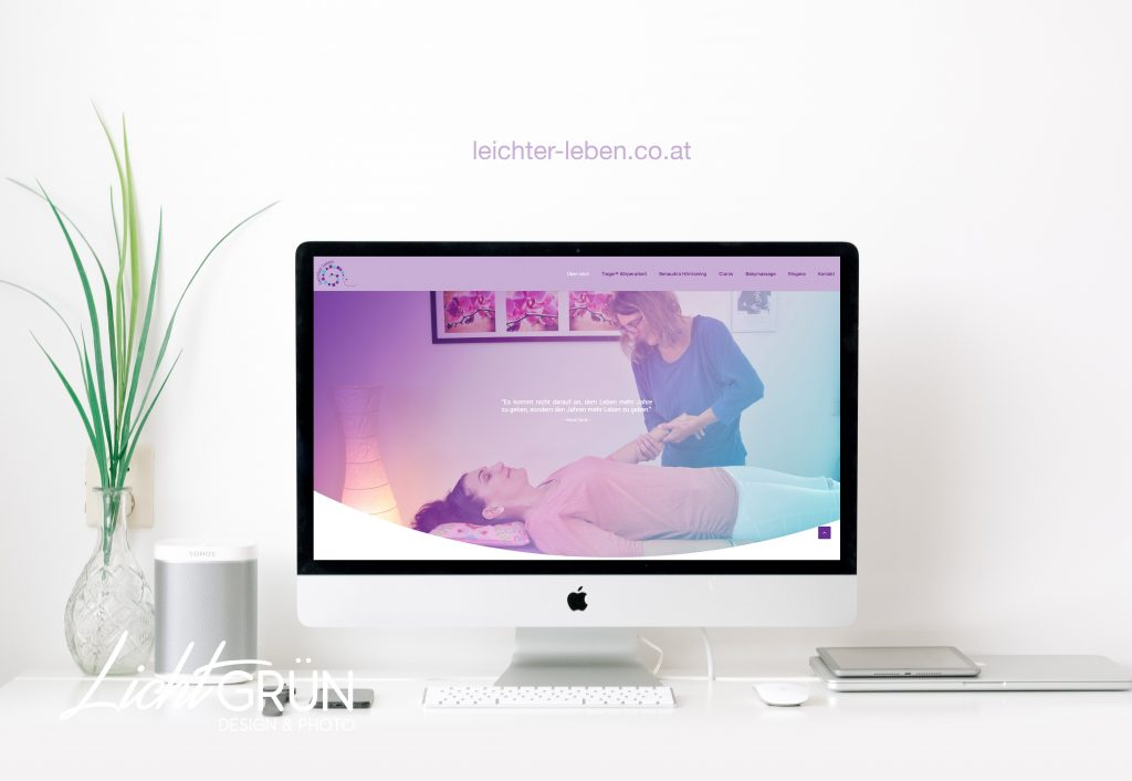 Webseiten Design - by Lichtgrün - Design & Photo, Linda Mayr Mondsee